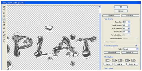 Photoshop Cs5: hiệu ứng chữ chất lỏng 20