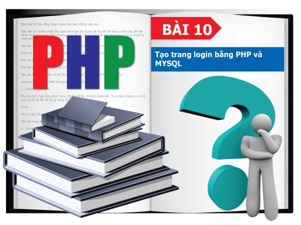 Tạo trang login bằng PHP và MYSQL