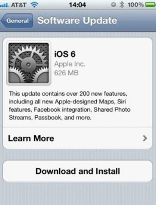 Cách cài đặt hệ điều hành IOS 6