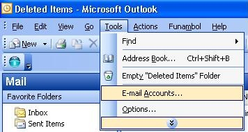 Office Outlook 2003: Cài Email