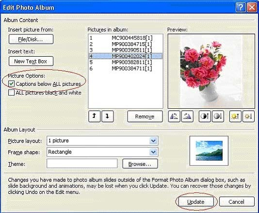 PowerPoint 2007: Tạo album ảnh