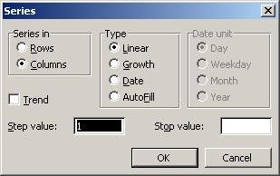 Thao tác trên bảng tính Excel 2003