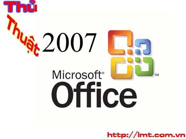 Microsoft Word 2007: Thủ thuật cơ bản 1