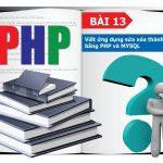 Viết ứng dụng sửa xóa thành viên bằng PHP và MYSQL
