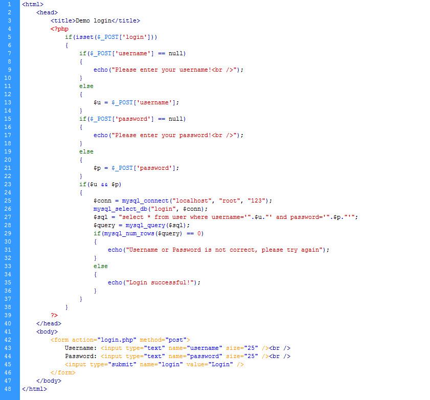 PHP cơ bản - Bài 10: Tạo trang login bằng PHP và MYSQL 7