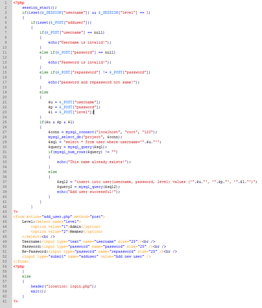 PHP cơ bản - Bài 11: Viết ứng dụng thêm thành viên bằng PHP và MYSQL 6