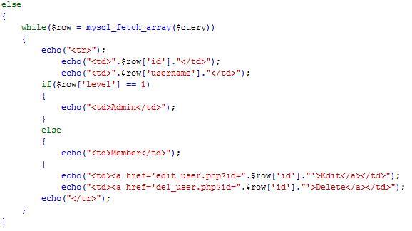 PHP cơ bản - Bài 12: Viết ứng dụng quản lý thành viên bằng PHP và MYSQL 4