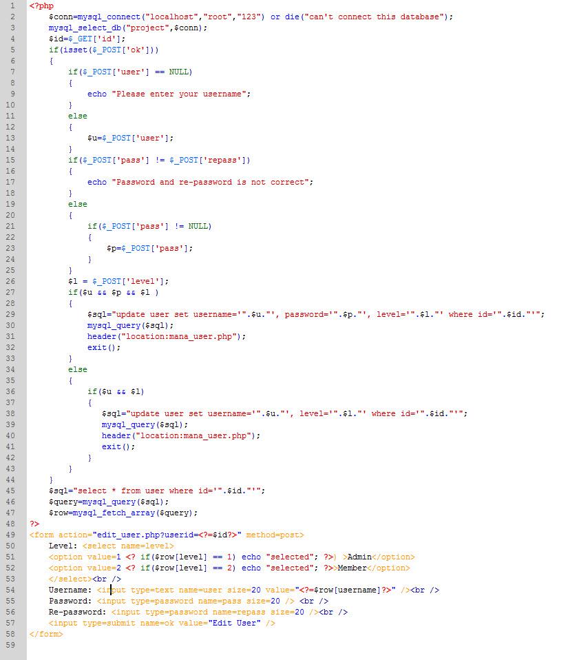 PHP cơ bản - Bài 13: Viết ứng dụng sửa xóa thành viên bằng PHP và MYSQL 6
