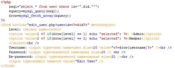 PHP cơ bản - Bài 13: Viết ứng dụng sửa xóa thành viên bằng PHP và MYSQL 3