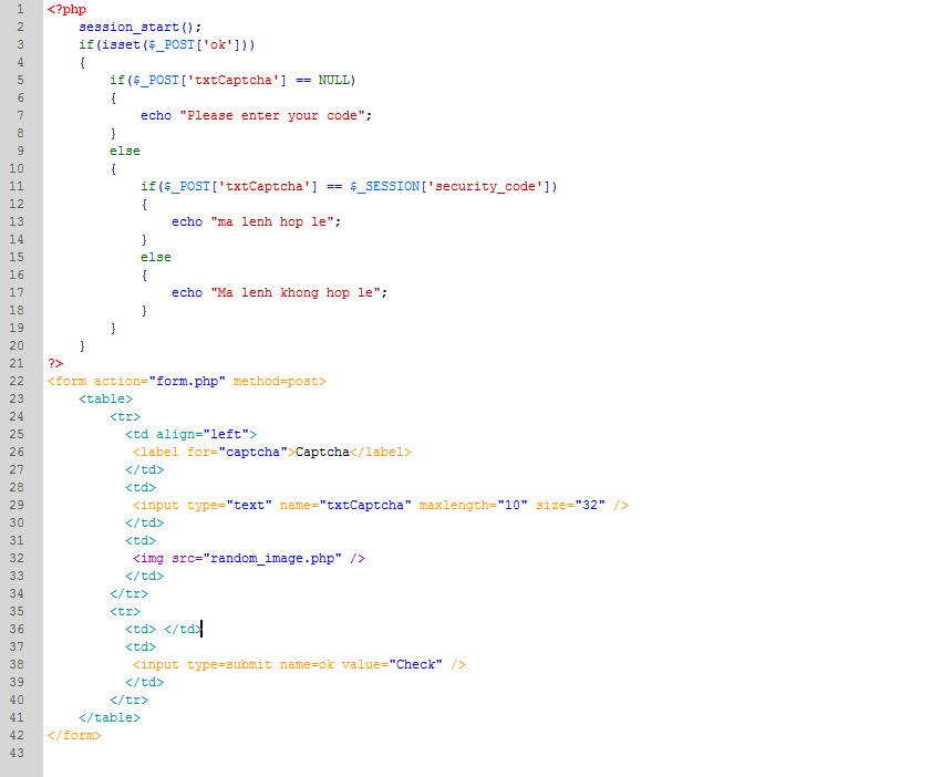 PHP cơ bản - Bài 14: Viết ứng dụng tạo mã xác nhận bằng PHP 7