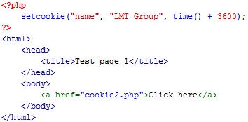 Thiết lập cookie trong php