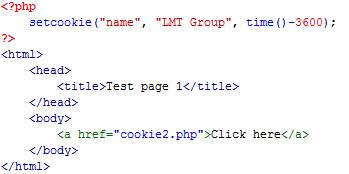 Hủy cookie trong php
