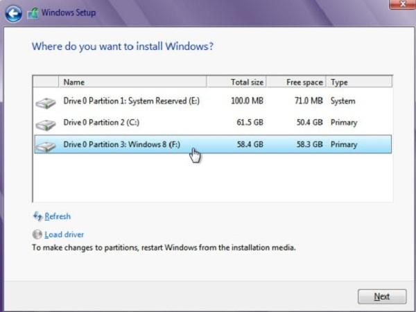 Windows 7 và Windows 8 sử dụng song song trên một PC
