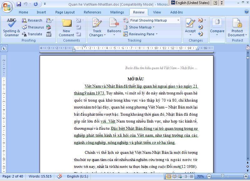 Word 2007: Mục lục tự động