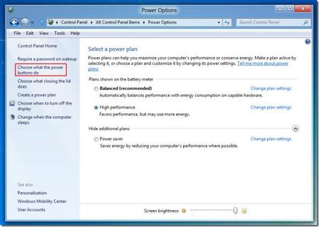 """Khôi phục tính năng """"ngủ đông"""" trên Windows 8"""