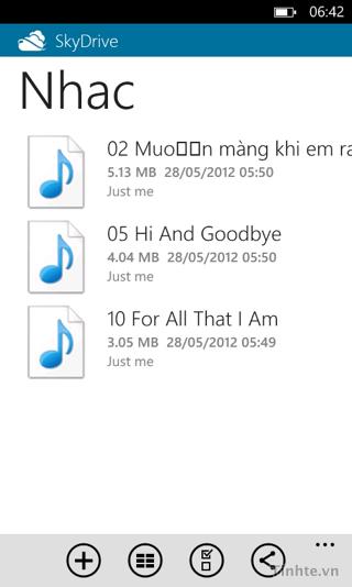 Nghe nhạc trên Windows Phone