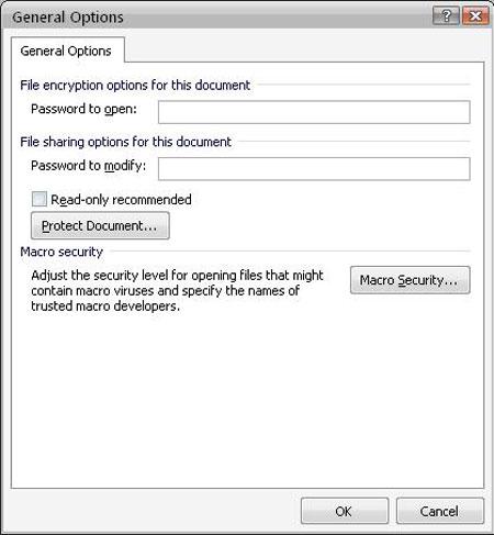 Hướng dẫn bảo vệ tài liệu Office