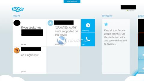 Phần mềm Skype cho Windows 8 lộ diện