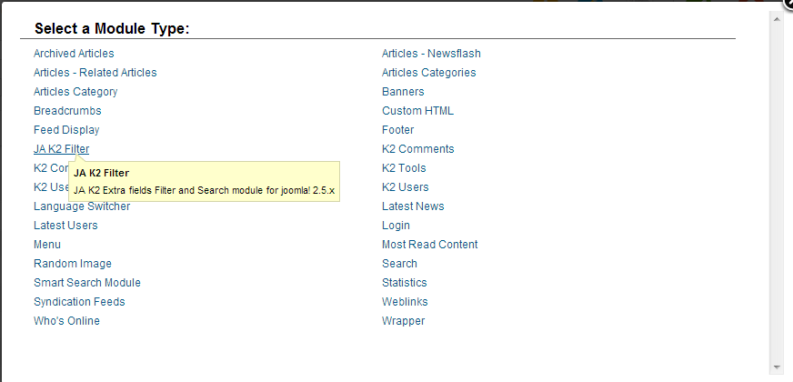 TUTORIAL JOOMLA: K2 - Component - Hướng dẫn K2 Filter and Search 2