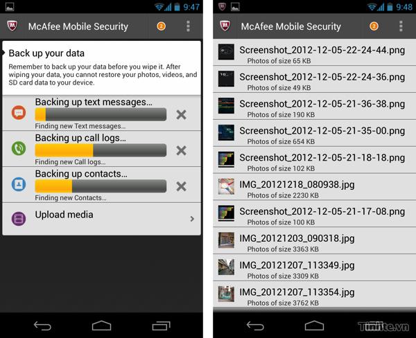 Ứng dụng bảo mật trên Android