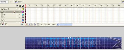 Chữ Chạy Bằng Adobe Flash CS6