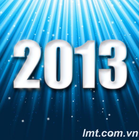 Tạo hiệu ứng chữ 2013