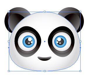 Tạo một biểu tượng khuân mặt dễ thương panda gấu - Ilustrator Sc6