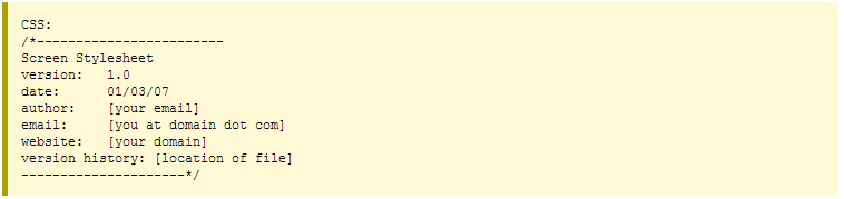 Bố cục của file CSS 2