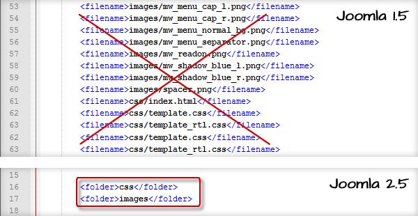 Chuyển template từ joomla 1.5 sang joomla 2.5 2