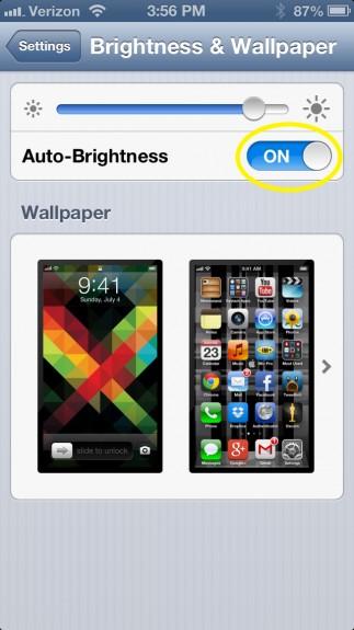 Tính năng cảm biến ánh sáng, điều chỉnh ánh sáng màn hình Iphone