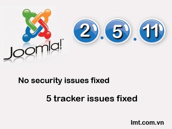 Phát hành Joomla! 2.5.11 5