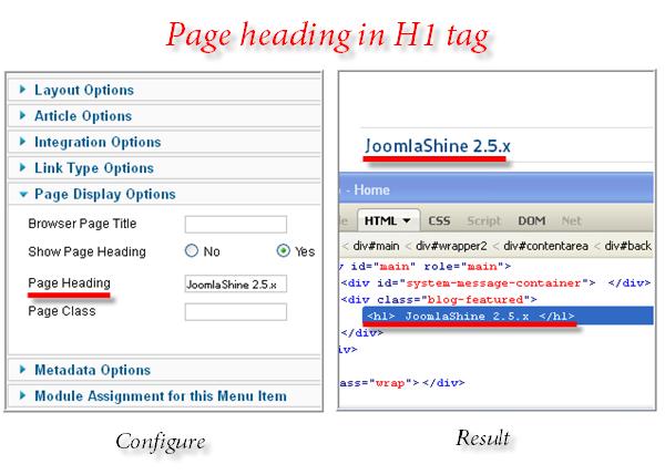 Nhập thẻ H1 trong Joomla 2.5