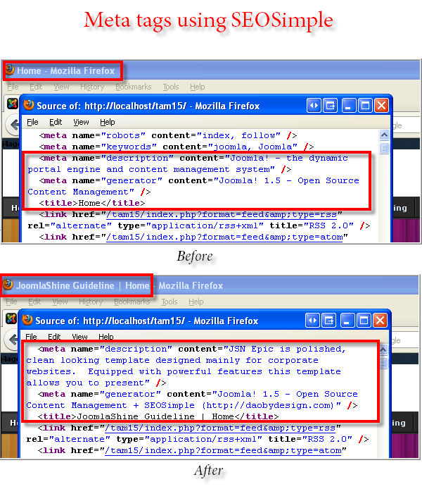 cấu hình metadata trong plugin seo
