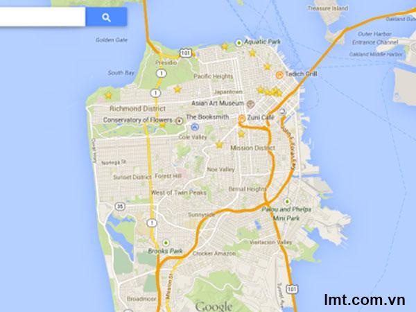 Google Maps mới cho Facebook