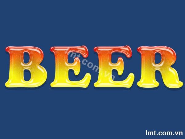 Hiệu ứng chữ Beer trong Photoshop cs6 5