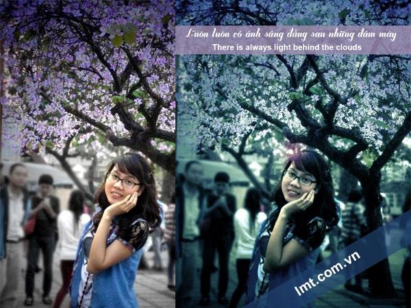 Tạo blend ánh màu tím photoshop cs6 6