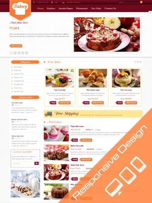 SJ Bakery - website cửa hàng bánh 1