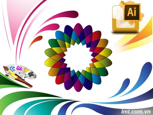 Vẽ Hoa Nhiều Màu Sắc Illustrator Cs6 8