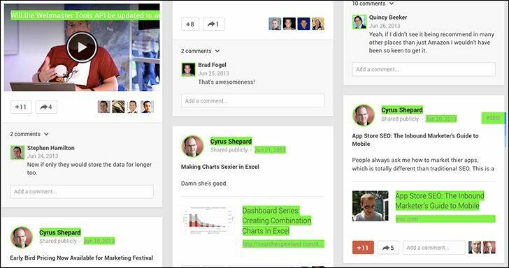 Thuật toán goole, Google +1