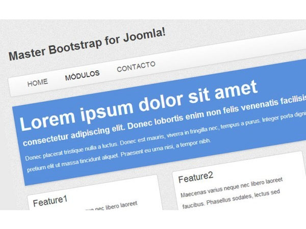 Master Bootstrap - Template free của Joomla 3