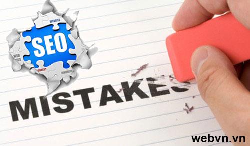 Seo chuyên nghiệp, Các lỗi thường gặp trong SEO
