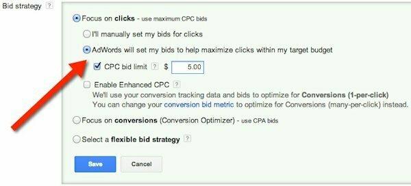Điều chỉnh giá thầu trong google adword