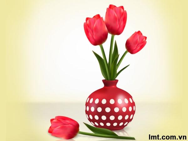 Vẽ hoa Tulips bằng iIlustrator 9