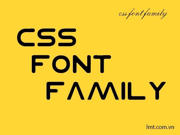 Bài 4. Font trong CSS 1