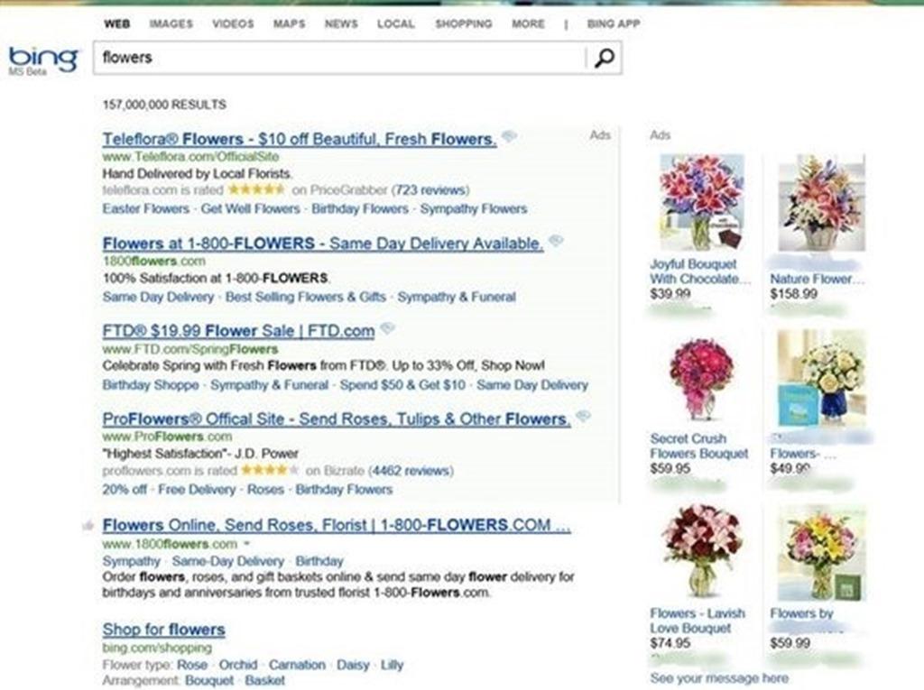 Đánh giá một năm của Bing Ads - product ads