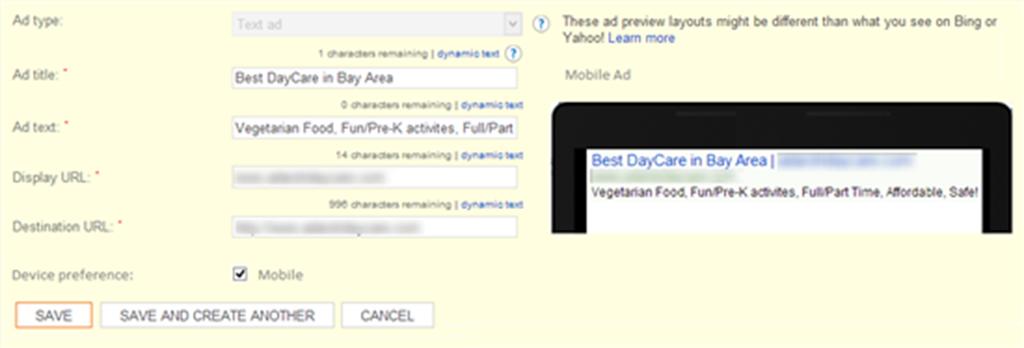 chiến dịch Bing Ads