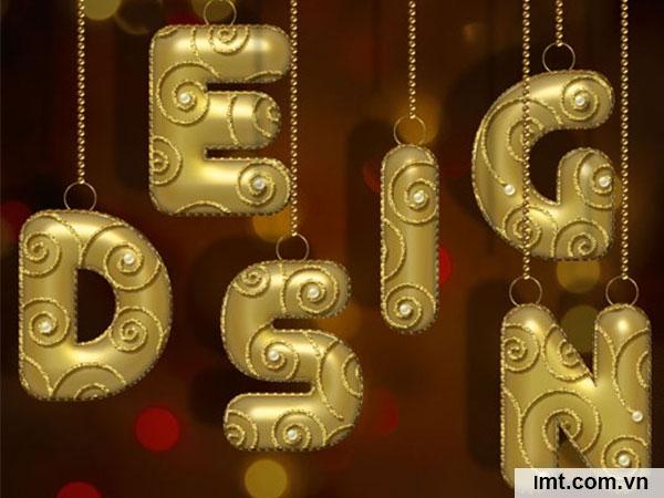 Hiệu ứng chữ sử dụng vàng kim loại 10