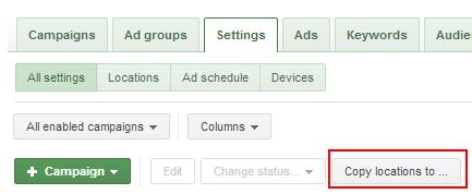 Tính năng copy & pate của google adwords