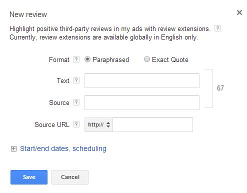 tính năng mở rộng quảng cáo trong google adwords