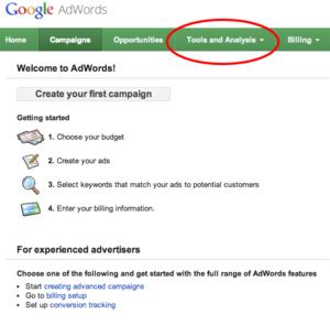 sử dụng adwords tìm thuật ngữ cho blog